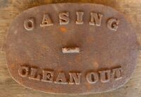 Salvage Stove Part Cast Iron Casing Clean Door Rusty Farmhouse Rustic Vintage