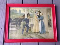 Fletcher Ransom 1909 Bringing Home The Bride 16x12 Wood Frame Art Print
