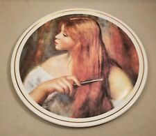 """Jeune Fille Se Peignant"" Limoges France Girl Brushing Her Hair Collector Plate"