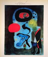 JOAN MIRO HAND SIGNED SIGNATURE * THE RED SUN * PRINT W/ C.O.A.