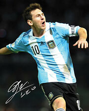 LIONEL MESSI #4 (ARGENTINA) - 10X8 PRE PRINTED LAB QUALITY PHOTO PRINT