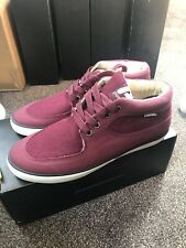 Pointer Canvas High Top Shoes UK8 Red/Cream
