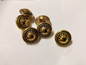 Vintage GOLD  Sewing buttons total 36 buttons x size 11mm