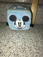 Disney Store Authentic Mickey Mouse Infant plush baby rattle Cube