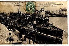 CPA 50 CHERBOURG MARINE TSAR RUSSIE Contre Torpilleurs BEZOUPRETCHNY & BRAVY1905