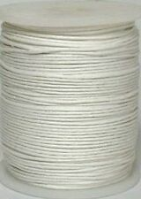 10m White 1mm Cotton Cord DIY Necklace Jewellery String Waxed Beading Crafting
