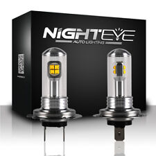 2pcs NIGHTEYE Car LED Headlight Kit Auto Bulbs Fog Light Lamp White H7