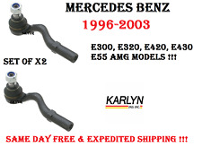 96-03 MERCEDES E300 E320 E420 E430 Front Outer Tie Rod End Left & Right Pair
