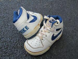 Vtg 1986 Big Nike High Sz 4 Infant Baby Crib Shoes OG 86 1985 1980s 80s RARE!