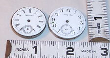 HAMPDEN & BETSY ROSS ANTIQUE POCKET WATCH ROUND CASE MOVEMENTS 1900s