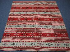 Vintage Hand Woven Wool Rug with Hand Stitched Seam Up Center 56x66