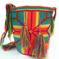 Authentic Wayuu Bag Mochila Hand Woven Multicolor #531