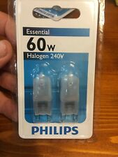 60w PHILIPS G9 Frost Halogen Dimmable WEDGE Light Globe 240v Capsule 2 Pack
