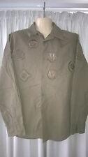 Mens Stray Shirt, L, Long Sleeves, 100% Cotton, Khaki Green