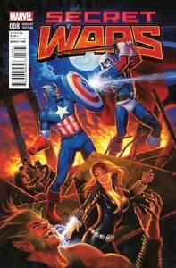 Secret Wars #8 Variant Covers lot of 6 Hildebrandt Bianchi & more 2015 Marvel