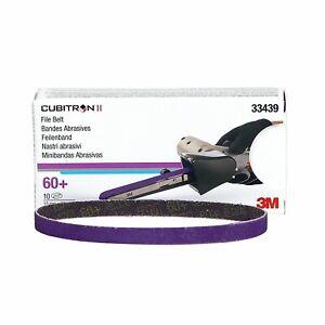 3M 33439 Cubitron II File Belt, 10mm x 330mm, 60+ grade, Box of 10