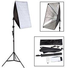 Kit iluminación estudio fotográfico set 1x lámpara fotografía softbox trípode NU