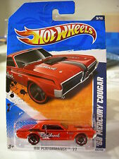 Hot Wheels '68 Mercury Cougar HW Performance Edelbrock Red
