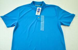 "men's Cubavera French blue polo shirt size large chest 47"" MSRP $55 short slvs"