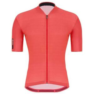 Santini 2021 Colore Men's Short Sleeve Cycling Jersey in Granatina Pink