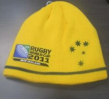 RUGBY LEAGUE WORLD CUP 2011 NEW ZEALAND GOLD BEANIE LINED AUSTRALIA TEAM