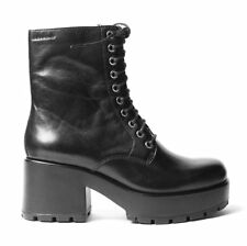 Vagabond Dioon Black Lace Up Chunky Block High Heel Boots EU37, 38, 39