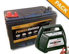 Batterie bateau, camping car decharge lente 12v 75ah  + chargeur ANSMANN