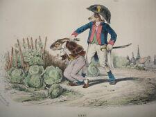 MÉTAMORPHOSES DU JOUR signés GRANDVILLE 1869 SUPERBES COULEURS RARE !
