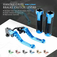CNC Short Brake Clutch Lever Handle Grips for YAMAHA YZF R6 99-04 YZF-R1 02-03