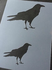 Crow Bird Animal A4 Mylar Reusable Stencil Airbrush Painting Art Craft