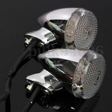 4 PEZ BULLET FRECCE LED MOTO HARLEY INDICATORI DI DIREZIONE CROMATO CUSTOM 39MM
