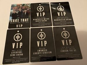 Take That - Winderland Live 2017 - Collection Of 6 VIP Laminates