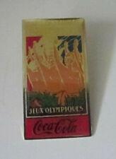 Coca-Cola 1990s Olympic Games Paris Enamel Pin Badge VGC