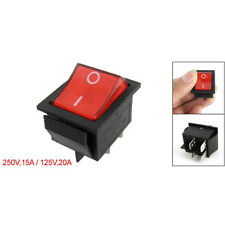 Red Light 4Pin DPST ON/OFF Snap in Rocker Switch 15A/250V 20A/125V AC 28x22 N0C3
