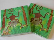 Monkey Safari Jungle Birthday Party Napkins