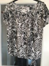 Ladies Next Black Grey Blouse 8