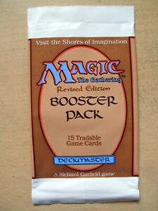 Magic the Gathering: 1 Boosterhülle Revised Edition (Leerhülle) empty wrapper