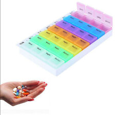 7 Day Weekly Daily Pill Box Medicine Tablet Storage Dispenser Holder &Orga UKLQ