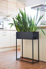 """Dekobox Pflanzbox Blumenkasten pulverb. Stahlblech """"Style"""" 60 cm Schwarz Matt"""