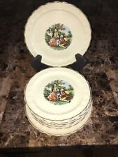 TAYLOR SMITH TAYLOR 10 Piece Set Vintage Colonial Couple Pattern