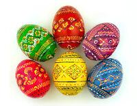 6 Colorful Hand Painted Ukrainian Easter Egg Eggs Pysanky Pysanka Pysanki Easter