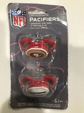 Baby Fanatic NFL San Francisco 49ers Orthodontic Pacifiers BPA Free