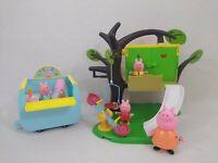 Peppa Pig Treehouse Playset with Ice Cream Van & 4 Figures Free Postage