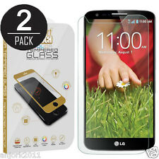 2X PACK 9H 2.5D TEMPERED GLASS SCREEN PROTECTOR FOR LG G2 D800 VS980 D801