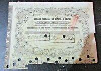 OBBLIGAZIONE STRADA FERRATA DA GENOVA A VOLTRI - 19/1/1857