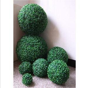 ARTIFICIAL BUXUS BALL BOXWOOD HANGING TOPIARY GARDEN FAKE POTS GRASS DECOR 1PC