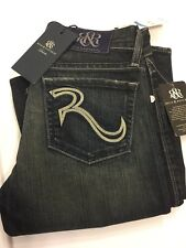Rock & Republic Distress Denim Embroider Women Jeans  Sz 25 KJX