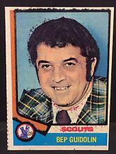 BEP GUIDOLIN 1974-75 Topps Hockey ERROR Card #34 Ink BLEED Black & Red OddBaLL