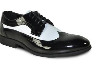 Black and White Fashion Wedding/Prom Lace-Up Tuxedo Shoes