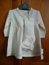 Mothercare New Cotton and Cashmere Spring Dress to 1 month 0-3 Baby Girl Newborn
